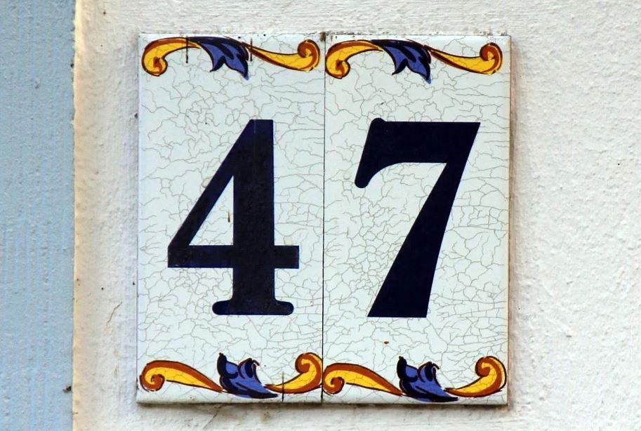 číslo domu 47