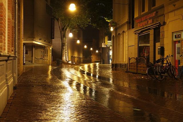 mokrá ulice